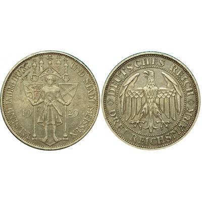 """Монета  3 марки 1929 Е """"1000 лет городу Мейсон"""", Германия (арт н-58369)"""