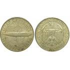 """Монета  3 марки 1930 А """"Дирижабль Граф Цеппелин"""", Германия (арт н-58337)"""