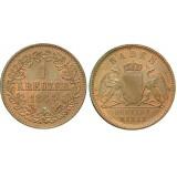 Монета 1 крейцер 1864 Баден, Германия (арт н-60504)