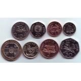 Набор монет Гернси (8 шт.) 1992-2008 гг., Гернси.