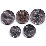 Набор монет Индонезии (5 шт.) 1999-2010 гг., Индонезия.