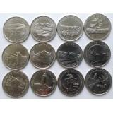 Провинции Канады. Набор монет (12 шт.), 1992 год, Канада.