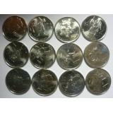 Канада набор 12 монет 25 центов 2007-2009 Ванкувер-2010