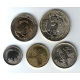 Набор монет Колумбии (5 шт.) 2012-13 гг., Колумбия.