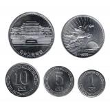Набор монет Северной Кореи (5 шт.). 1959-1987 гг, Северная Корея.