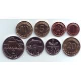 Набор монет Латвии (8 шт.) 1999-2009 гг., Латвия.