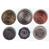 Набор монет (6 штук). 25-250 ливров, 1996-2009 год, Ливан.