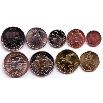 Набор монет Малави (9 шт.). 1996 - 2006 гг., Малави.