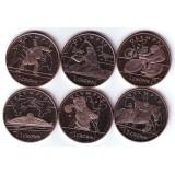 Олимпийские игры в Лондоне, набор монет (6 шт.). 2012 год, Остров Мэн.