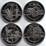 Олимпийские игры в Лондоне. Набор монет (4 шт.), 1 доллар, 2012 год, Сьерра-Леоне.
