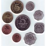 Набор монет (9 шт.) Шри-Ланки. 1978-2011 гг., Шри-Ланка.