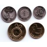 Набор монет Соломоновых островов (5 шт.) 2012 год.