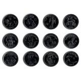 """Набор монет """"Знаки Зодиака"""" (12 штук). 10 шиллингов, 2006 год, Сомалиленд."""