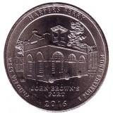 Национальный исторический парк Харперс Ферри. Монета 25 центов (D). 2016 год, США.