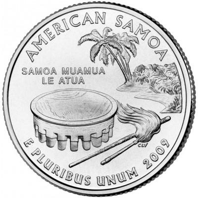 Американское Самоа. Монета 25 центов (P). 2009 год, США.