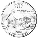 Айова. Монета 25 центов (D). 2004 год, США.