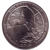 Автомагистраль Блу-Ридж. Монета 25 центов (D). 2015 год, США.