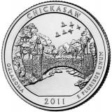 Рекреационная зона Чикасо. Монета 25 центов (D). 2011 год, США.