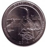Национальный парк Эверглейдс. Монета 25 центов (D). 2014 год, США.