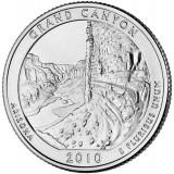 Национальный парк Гранд-Каньон. Монета 25 центов (D). 2010 год, США.