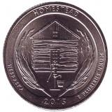 Национальный монумент Гомстед. Монета 25 центов (D). 2015 год, США.