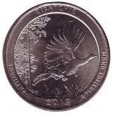 Национальный монумент Кисатчи. Монета 25 центов (D). 2015 год, США.