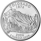 Колорадо. Монета 25 центов (D). 2006 год, США.