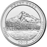 Национальный лес Маунд Худ. Монета 25 центов (D). 2010 год, США.