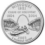 Миссури. Монета 25 центов (D). 2003 год, США.