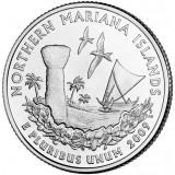 Северные Марианские острова. Монета 25 центов (D). 2009 год, США.