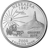 Небраска. Монета 25 центов (D). 2006 год, США.