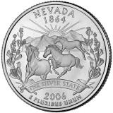 Невада. Монета 25 центов (D). 2006 год, США.