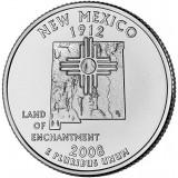 Нью-Мексико. Монета 25 центов (D). 2008 год, США.