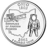 Огайо. Монета 25 центов (D). 2002 год, США.