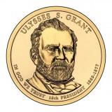 18-й президент США. Улисс С. Грант. Монетный двор D. 1 доллар, 2011 год, США.