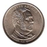 21-й президент США. Честер Артур. Монетный двор D. 1 доллар, 2012 год, США.