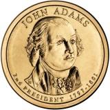 2-й президент США. Джон Адамс. Монетный двор D. 1 доллар, 2007 год, США.