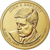 35-й президент США. Джон Кеннеди. Монетный двор D. 1 доллар, 2015 год, США.