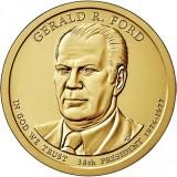 38-й президент США. Джеральд Форд. Монетный двор D. 1 доллар, 2016 год, США.