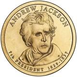 7-й президент США. Эндрю Джексон. Монетный двор D. 1 доллар, 2008 год, США.