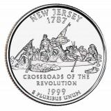 Нью-Джерси. Монета 25 центов (D). 1999 год, США.