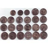 Набор памятных монет Тайланда (23 шт.), 1 бат. 1957 -1996 гг., Тайланд.