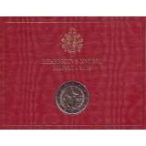 Год святого Апостола Павла. Монета 2 евро. 2008 год, Ватикан. (в буклете)