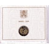 Международный год астрономии. Монета 2 евро в буклете. 2009 год, Ватикан.