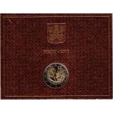 XXVI Всемирный день молодежи в Мадриде. Монета 2 евро в буклете. 2011 год, Ватикан.