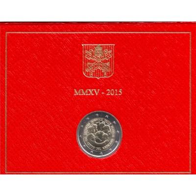 VIII Всемирная встреча семей в Филадельфии. Монета 2 евро. 2015 год, Ватикан. (в буклете!)