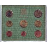 Годовой набор монет евро Ватикана в буклете. 2010 год, Ватикан.
