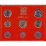 Годовой набор монет евро Ватикана в буклете. 2016 год, Ватикан.