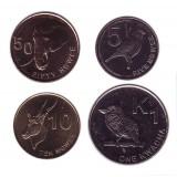 Набор монет Замбии (4 шт.). 5-50 нгве, 1 квача, 2012 года, Замбия.