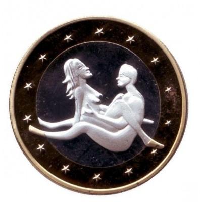 6 эросов (Sex euros). Сувенирный жетон. (Вар. 2)